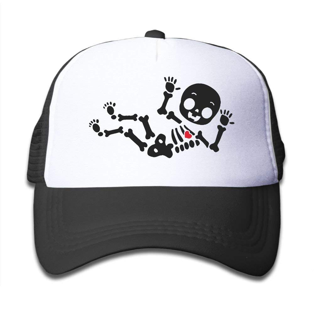 BOYGIRL-CAP Skeleton Baby Kids Girls Boys Adjustable Mesh Cap Hip Hop Caps Trucker Hat