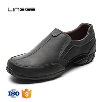 2018 Factory direct support waterproof suede leather casual flat new model men shoes