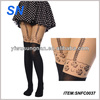 New Design Fashion Fake High Socks Sex Pantyhose Stockings Black Tattoo Cat Leggings Tights