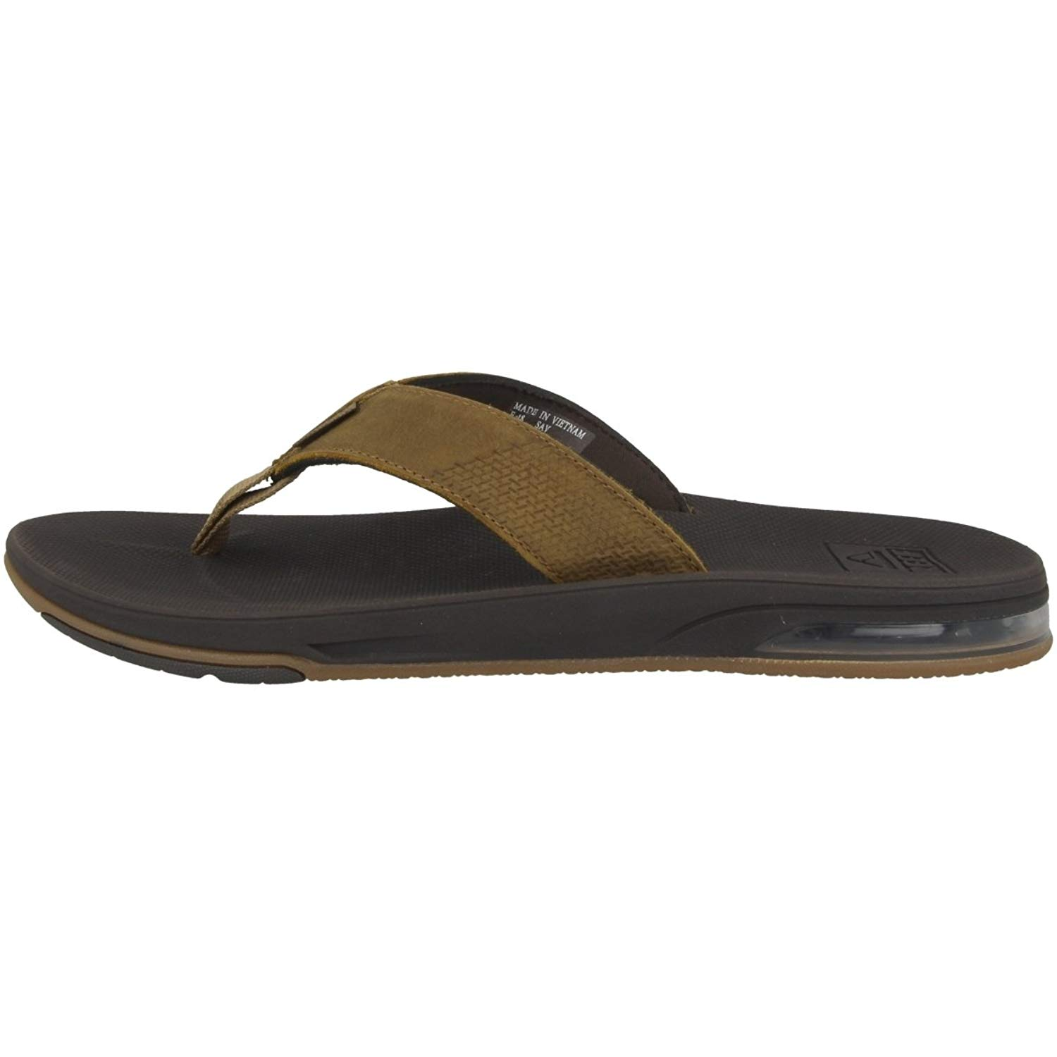fea8663b2cb8 Get Quotations · Reef Men s Leather Fanning Low Sandals