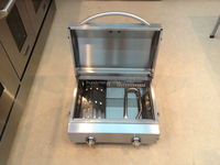 Portable barbecue gas grill, high quality gas barbecue grill (stainless steel)