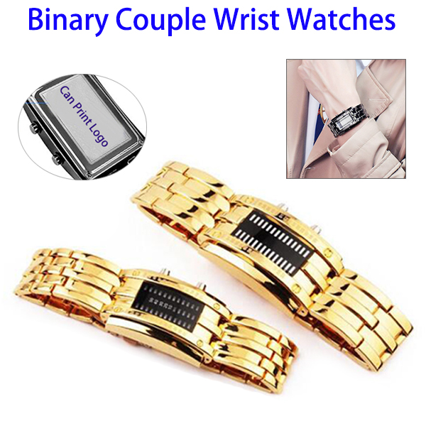 Protect Your Order Waterproof Binary LED Ditital Couple Lover Wrist Watch