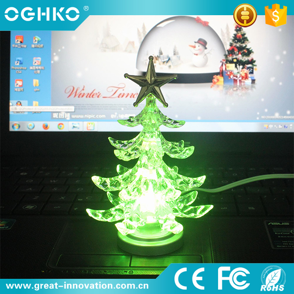 New model usb LED artificial christmas tree ornament