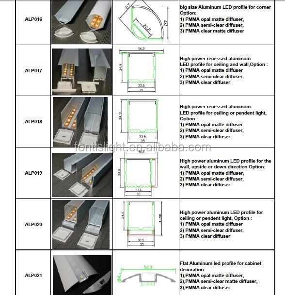 Aluminium Ecke Profil Für Decke Liner Beleuchtung/küchenschrank Ecke ...