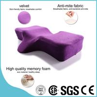 Top Rank Visco Elastic Memory Foam Neck Support Beauty Pillow Orthopedic Head Cushioning Eyelash Ergonomics Pillow