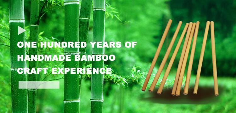 Eco vriendelijke natuurlijke voedsel papier bamboe stro drinken houten bamboe rietje