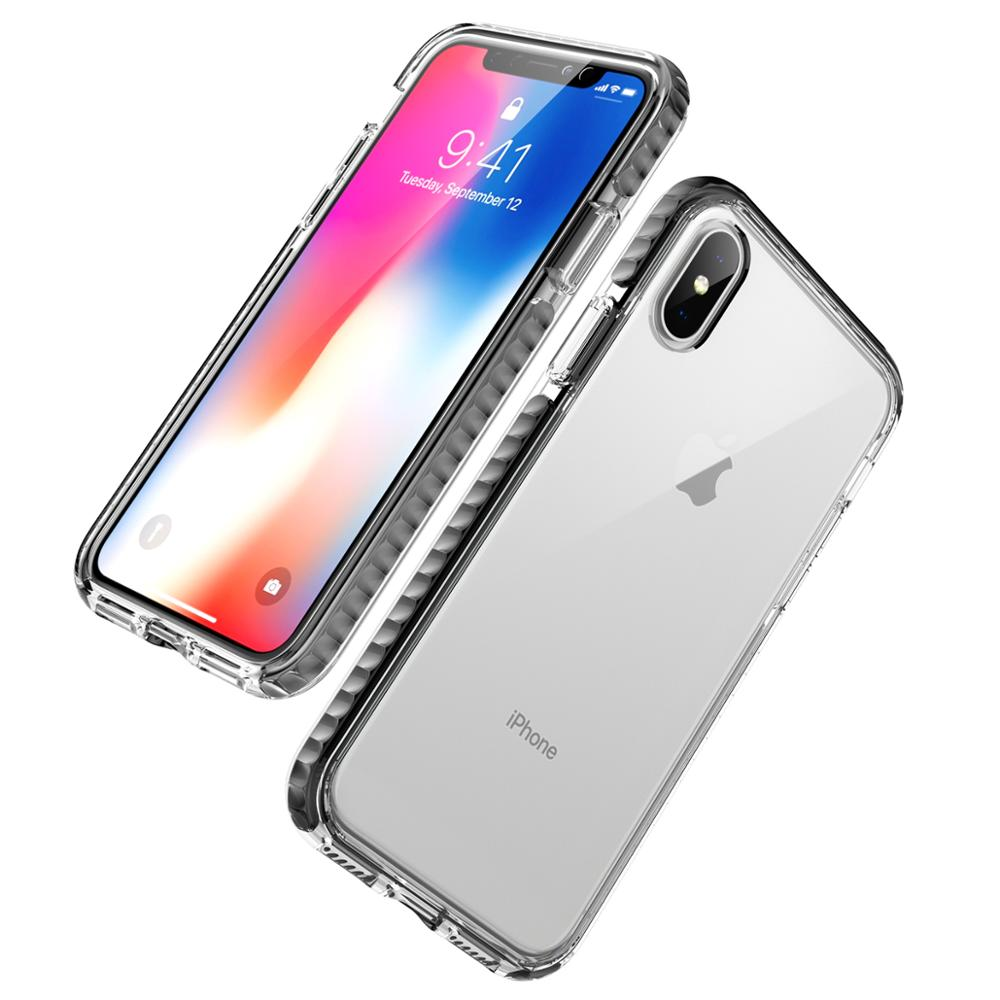 Clear Shockproof Hybrid 3 in 1 Luxury Mobile Phone <strong>Cover</strong> for iPhone 7 8 7Plus 8Plus X XS XR XSMax Case