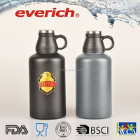 36oz/64oz Vacuum Insulated Stainless Steel Beer Growler/Water Bottle