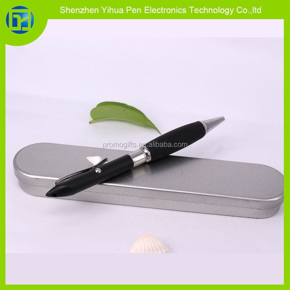 Custom 3 in 1 red laser pointer pen with gift tin box,650nm power<5mw red laser pointer ball-point pen