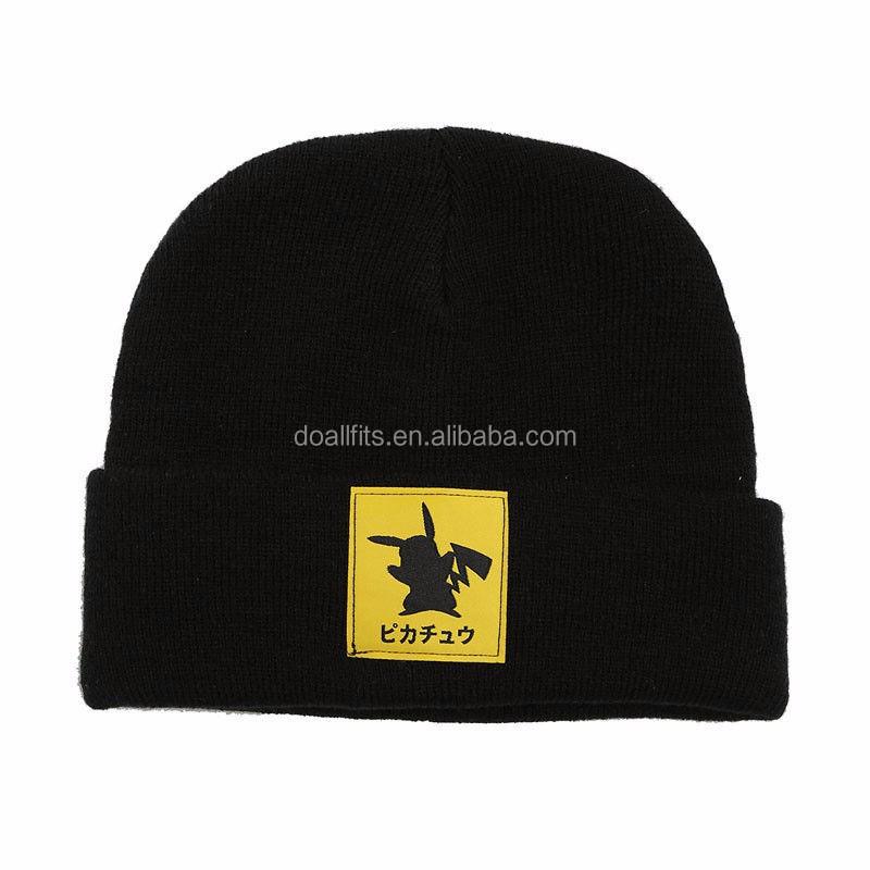 Pokemon Team Unisex Beanie Caps Winter Cap Warm Ski Knitted Hat Warm Wool Caps