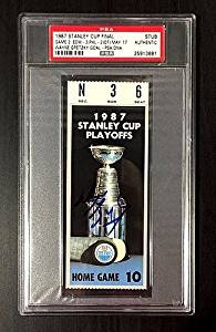 Autographed Signed Wayne Gretzky 1987 Stanley Cup Game 2 Ticket Stub Edmonton Oilers - PSA/DNA Authenticated - Signed Hockey Collectibles - NHL Gifts