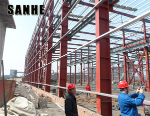Steel storage warehouse used industrial sheds in China