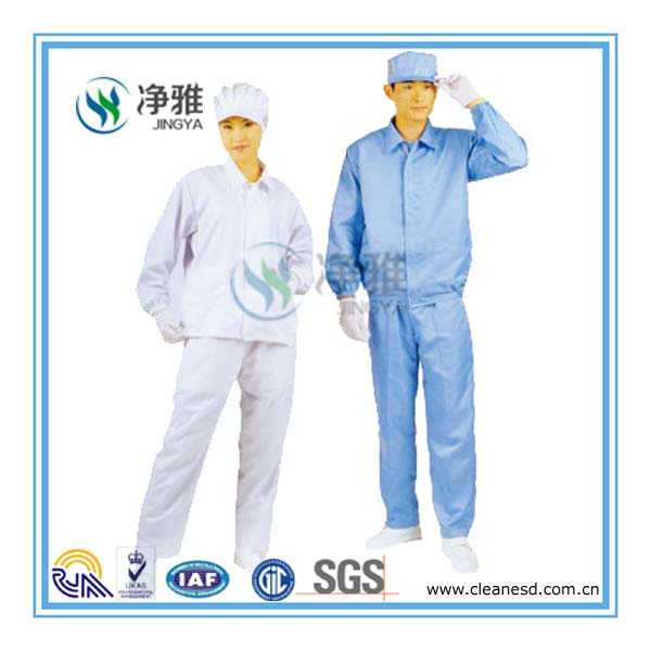 esd series goods 5mm strip, 5mm grid, 2.5mm grid anti static cleanroom garment