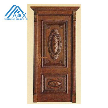 Nice Germany Style Carved Solid Wood Door