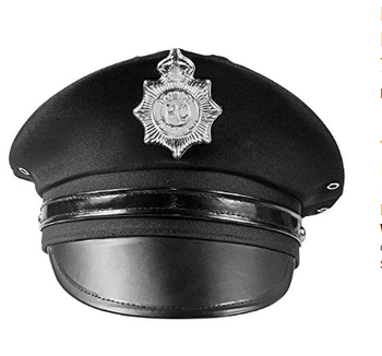 Costume Black Police Hat With Silver Badge Funny Party Hats - Buy Police  Hat With Badge,Police Officer Hat Product on Alibaba com