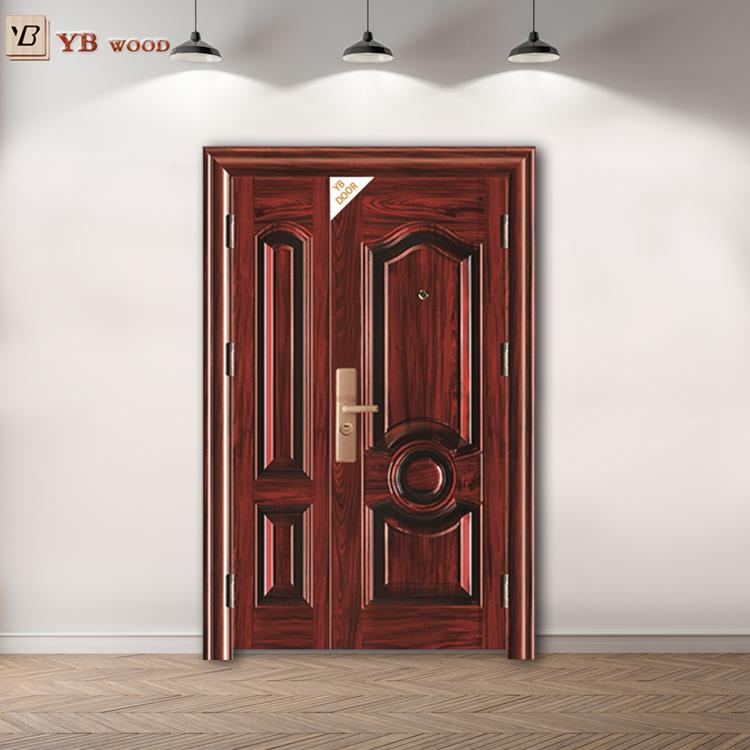 Dubai Carved Moisture Proof Aluminium Wooden Safety Iron
