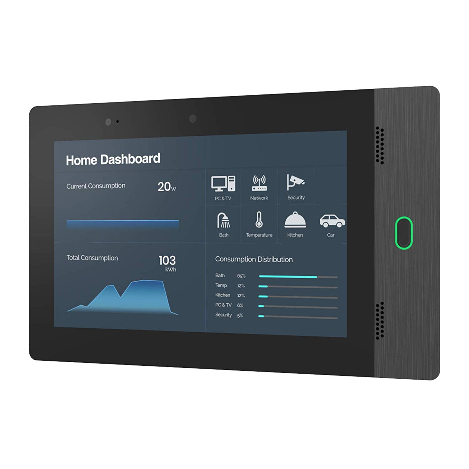 "Vega 10"" in Wall Touch Screen (Z- Wave Compatibility)"