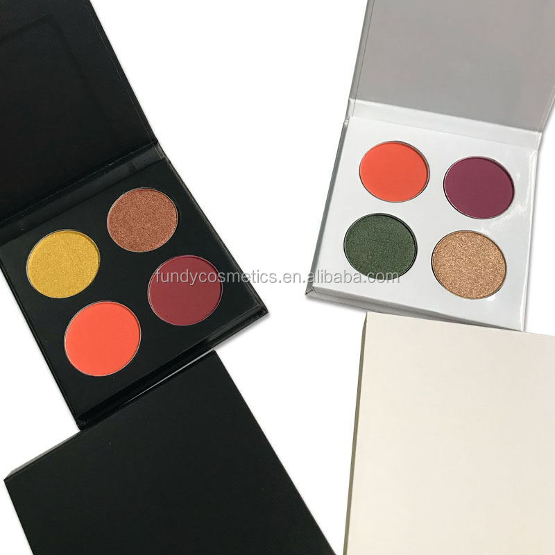 Alibaba.com / Custom your brand makeup high quality cardboard white/ black eyeshadow palette private label 4 colors