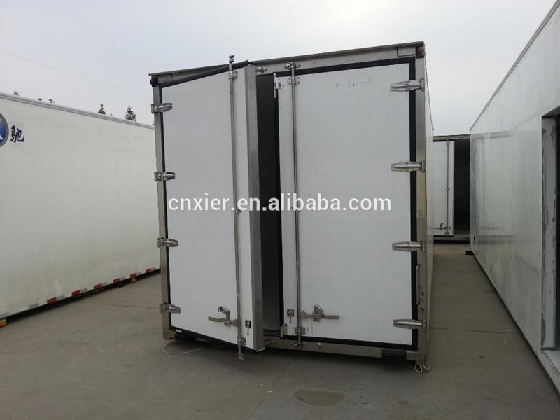 Professional refrigerated box body reefer truck body/cold van body for ice cream/fish/meat/other food