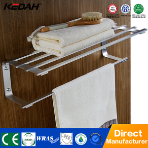 Unique bathroom accessories aluminium floor standing towel racks with towel bar