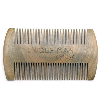 QS hot style OEM wholesale wooden sandalwood nit beard lice comb