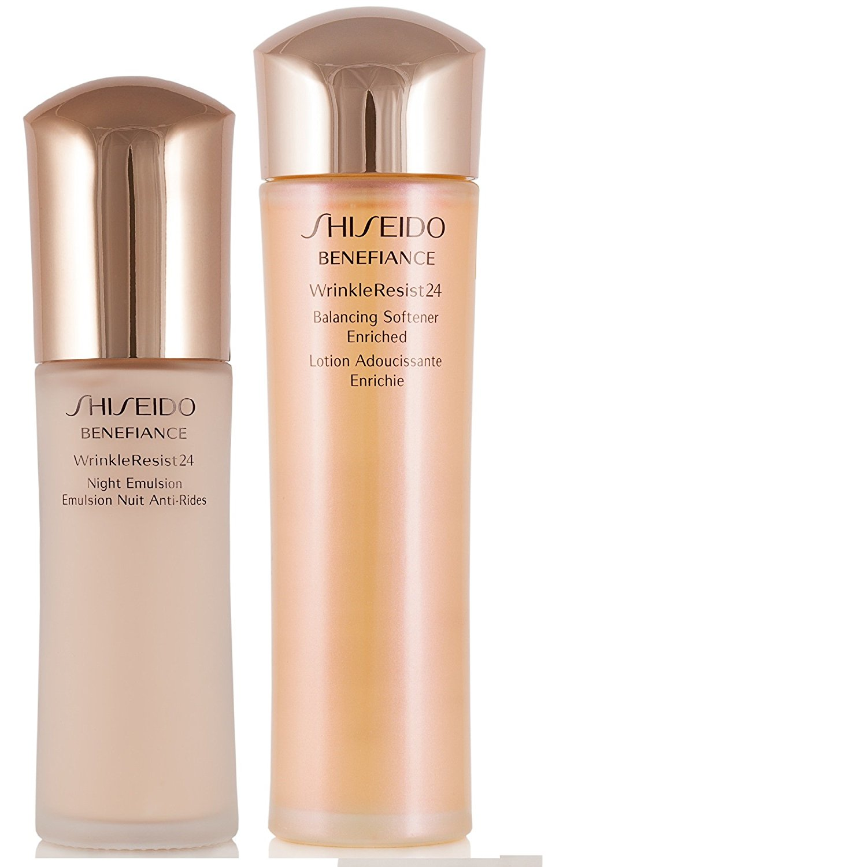 Shiseido Benefiance WrinkleResist24 Set: Balancing Softener Enriched Emulsion 5.0oz / Night Emulsion 2.5oz