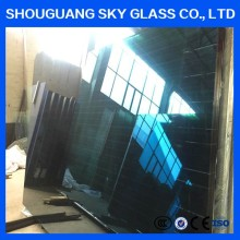 5mm Easy Cutting Lake Blue/Jewel Blue/Dark Green Semi Reflective Glass Price with IGCC/SGCC certification