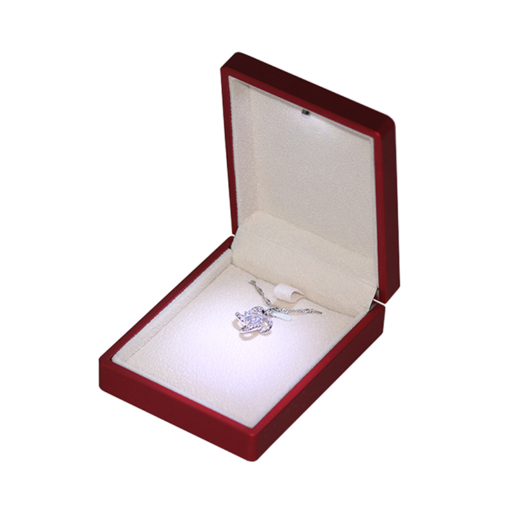 2018 Hot selling best price red  led light box for wedding ring jewelry