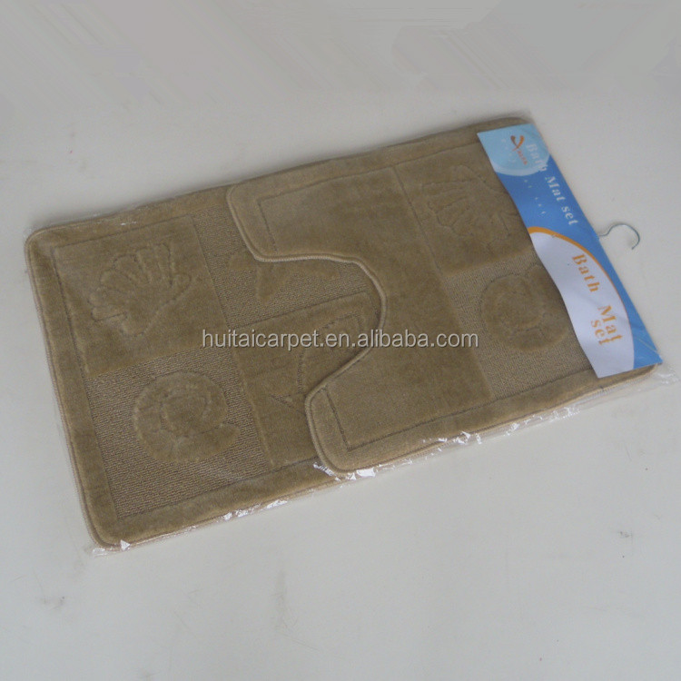 acrylic cut pile bath mat customized design