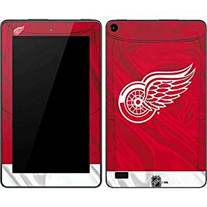 NHL Detroit Red Wings Kindle Fire (7in, 2015) Skin - Detroit Red Wings Home Jersey Vinyl Decal Skin For Your Kindle Fire (7in, 2015)