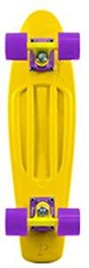 "Penny Original Complete Skateboard - Yellow/Yellow/Purple / 22"" L x 6"" W"
