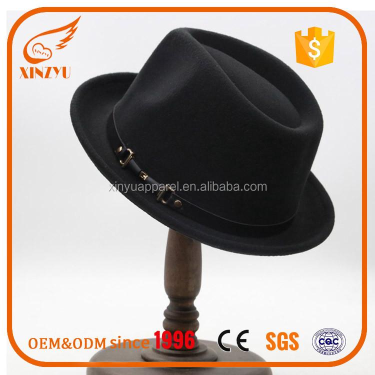 d02a4eeb497 Wholesale Mountain Man Felt Hat Blank 100% Wool Felt Hat With Leather Belt