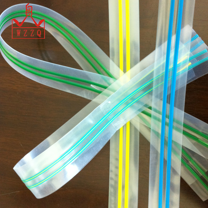 Best quality multi colored transparent plastic zipper without teeth