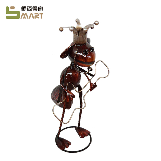 wholesale Modern Iron Figurine animal metal sculpture ant