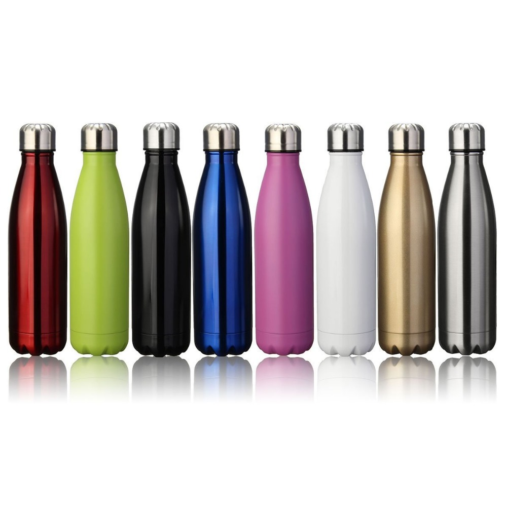 Alibaba.com / 17oz Double Wall Insulated Vacuum Cola Sports Bottle Stocked Custom Colored