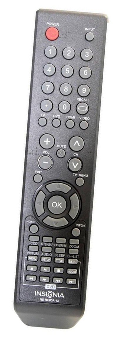 Insignia Ns-rc05a-13 Ns-rc04a-12 Dvd Combo TV Remote for Select Insignia Models