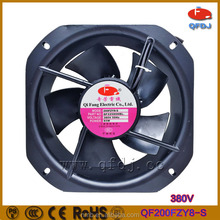 200fzy8-s ac electrice current type of metal blades 380v high performance 22580 ac cooling fan