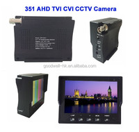 Built in Lithium Battery Portable Small Size 3.5 Inch LCD AV Monitor for AHD/TVI/CVI CCTV Camera Testing