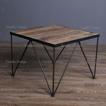 Reclaimed Wood Furniture Coffee Table With V Shape Legs