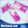 Multi Choose Clear Transparent Quicksand Hourglass Liquid Star Hard Plastic Back Case Cover For Iphone 5 5S