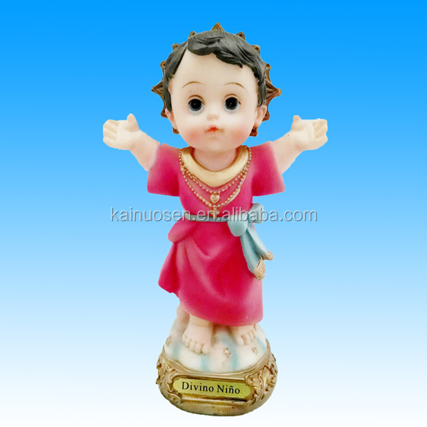 "Resin 8"" Inch Statue Divine Child Jesus with a Baby Face"