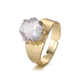 Wholesale 24k gold plated natural agate druzy stone custom rings, adjustable engagement ring jewelry for women