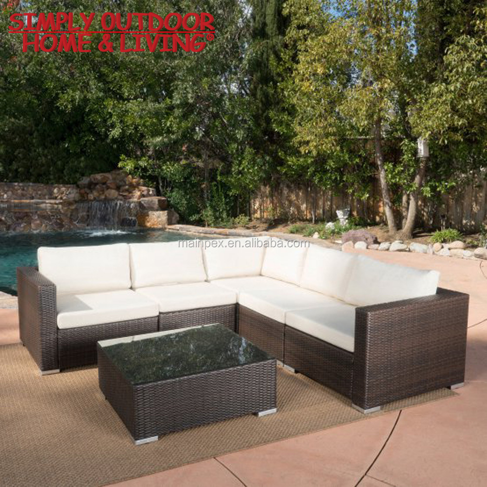 Plastic Rattan Garden Furniture Sofa