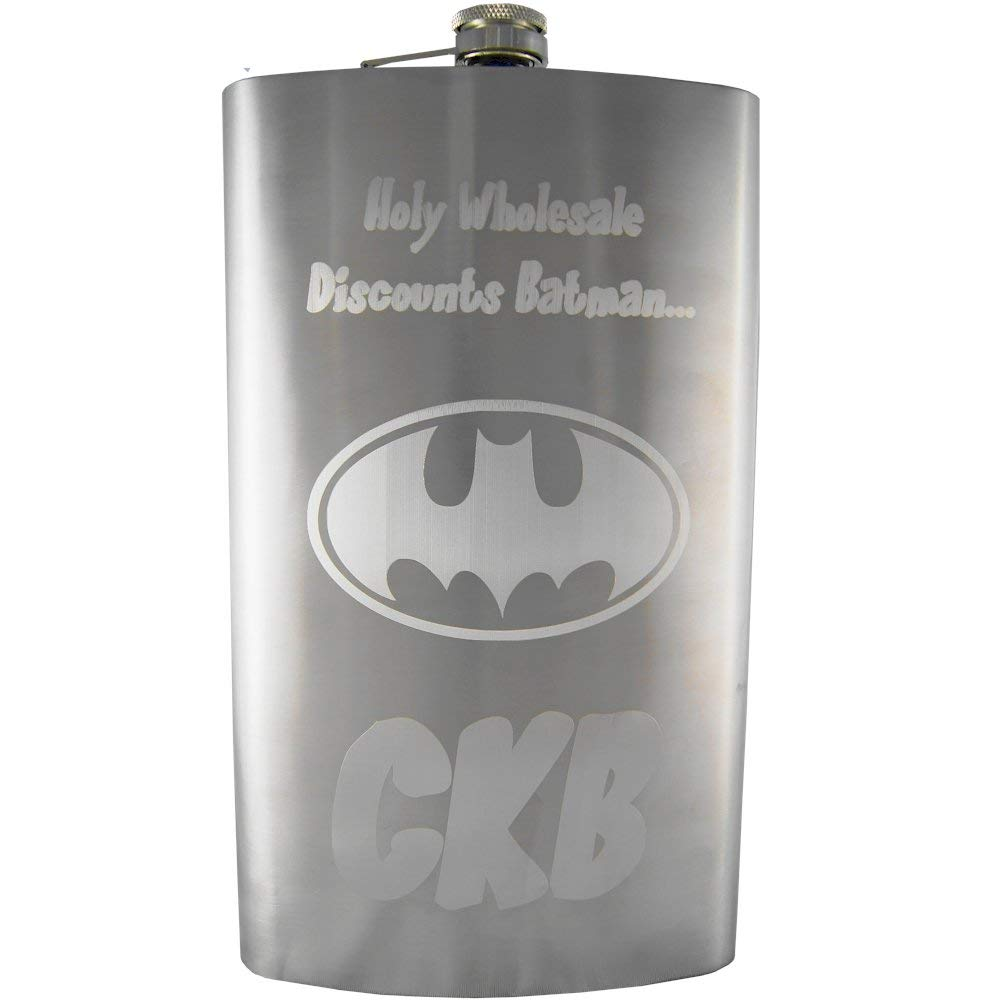 64oz Custom Engraved Giant Flask, Personalized
