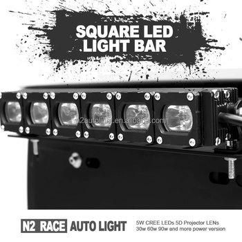 N2 Wholesale Super Cheap Yfz450 Atv Light Bar 5d Led Lens Single Row on