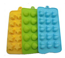 Fun Toy Kid Set Hearts, Stars & Shells Silicone Chocolate Molds Silicone Gummy Candy Mold
