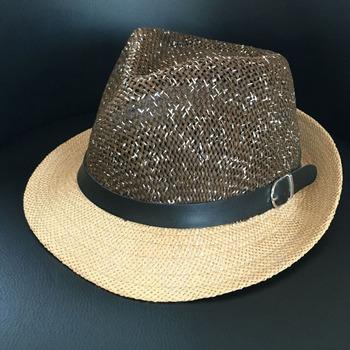 e37a3955e1cd9 Sombrinha de Praia Sol De Palha Panamá Fedora Trilby Chapéus das Mulheres  Dos Homens chapéu De