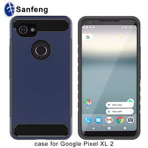 factory supply carbon fiber brushed soft TPU case for Google Pixel XL 2