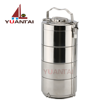 Wholesale Stainless steel portable lunch box food carrier hand pot food container Tiffin box