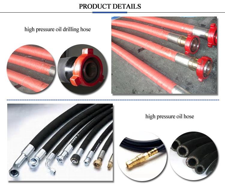 Olio tubo flessibile resistente bobina ad alta pressione idraulica tubo flessibile di aggraffatura